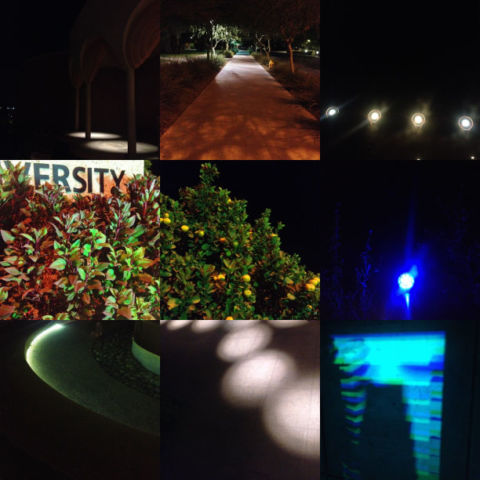 day 12: campus at night