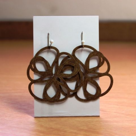day 37: paper earrings