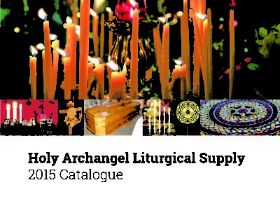 Alaska Liturgical Supply catalogue design by Emily Longbrake