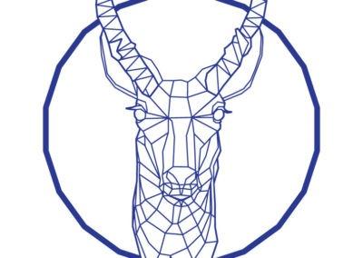 Pronghorn antelope design by Emily Longbrake
