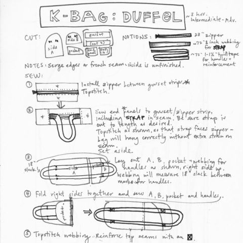day 276: k bag instructions