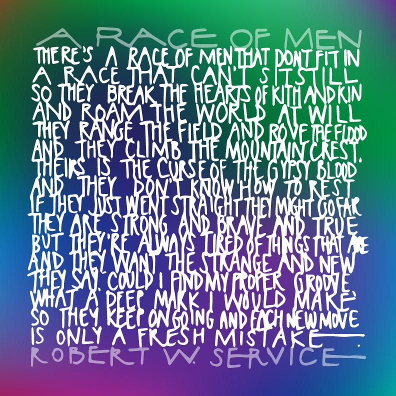 robert service race of men poem (1)