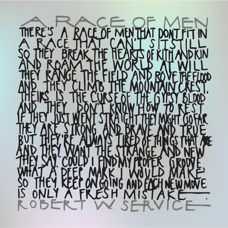 robert service race of men poem (2)