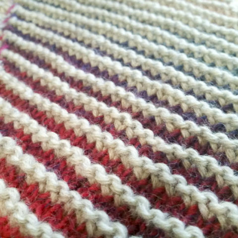 day 351: bias stripe afghan in progress