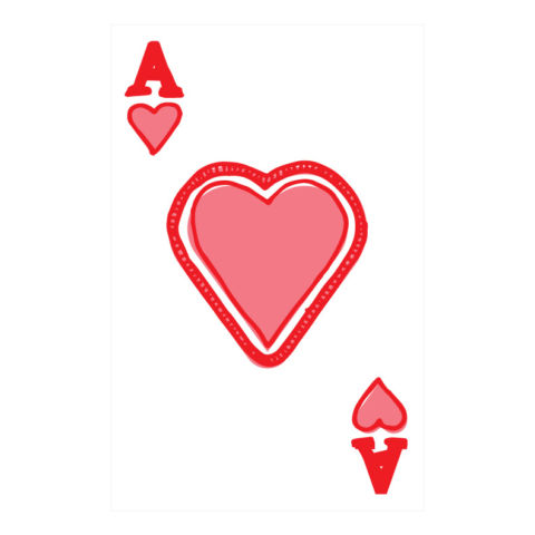day 313: custom playing cards, hearts