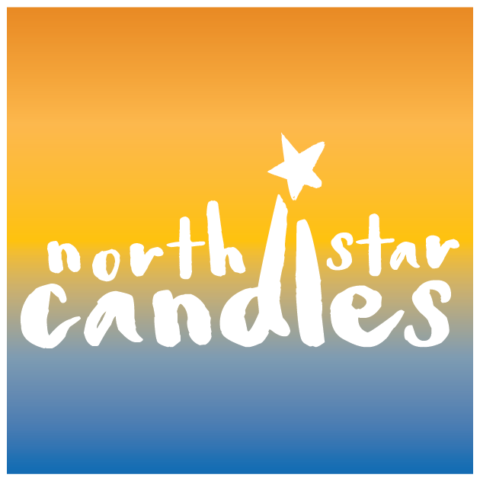 north star candles logo design