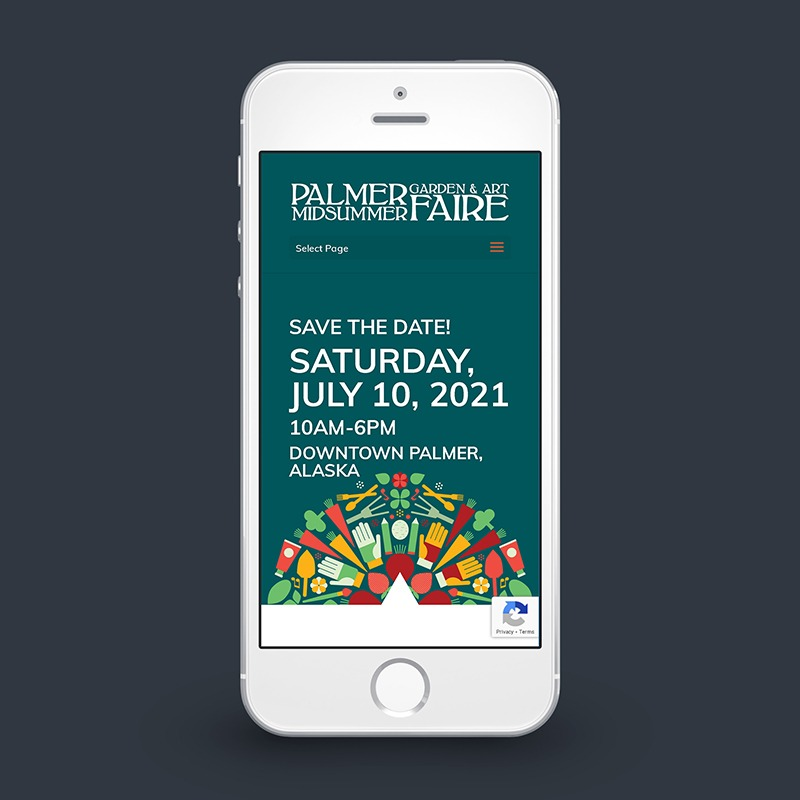 2021 Palmer Midsummer Garden & Art Faire mobile website design