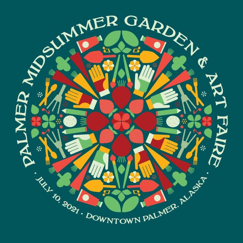 2021 Palmer Midsummer Garden & Art Faire round design