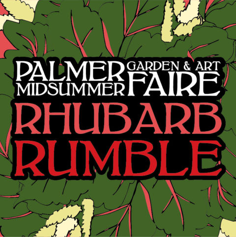 Rhubarb Rumble and Topihairy Challenge at the 2016 Palmer Midsummer Garden and Art Faire