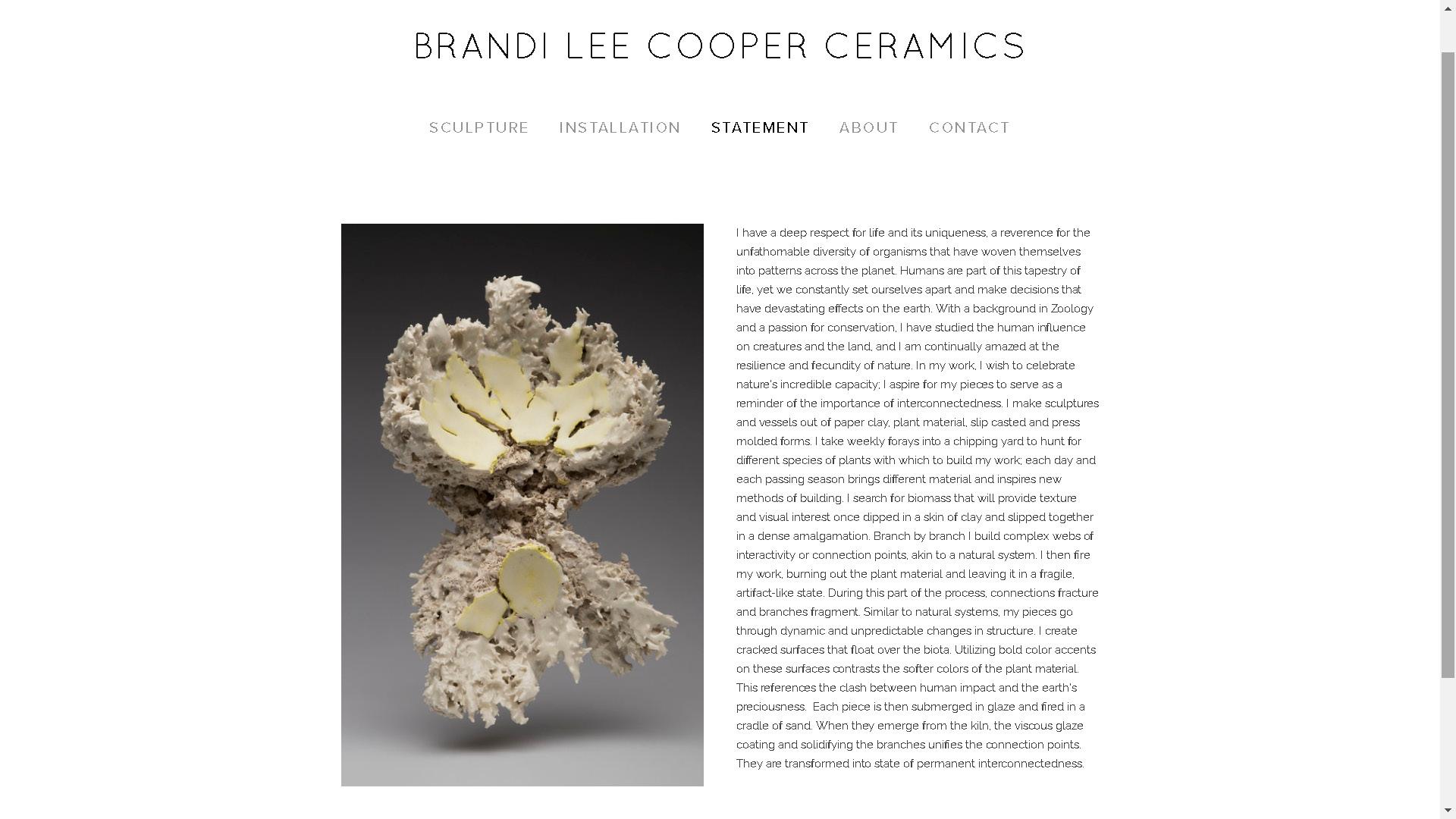 Brandi Lee Cooper Ceramics website