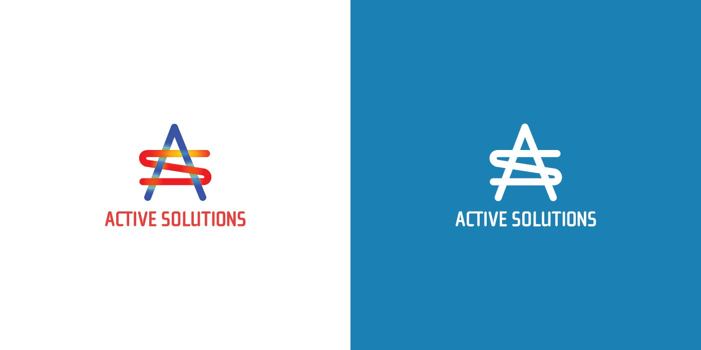 Active Solutions logo design