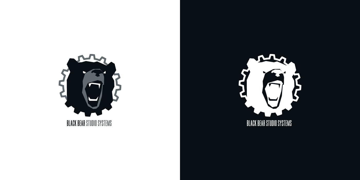Black Bear Studio logo design