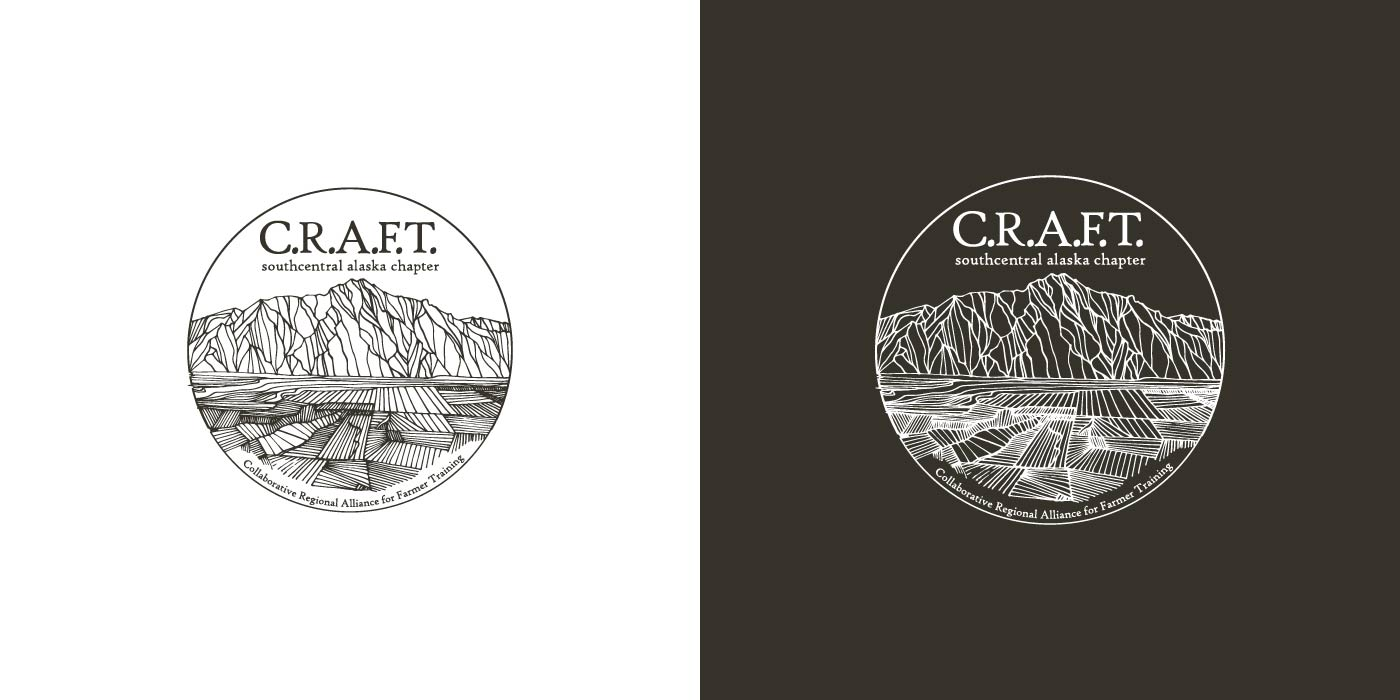 CRAFT Collaborative Regional Alliance for Farmer Training Southcentral Alaska logo design