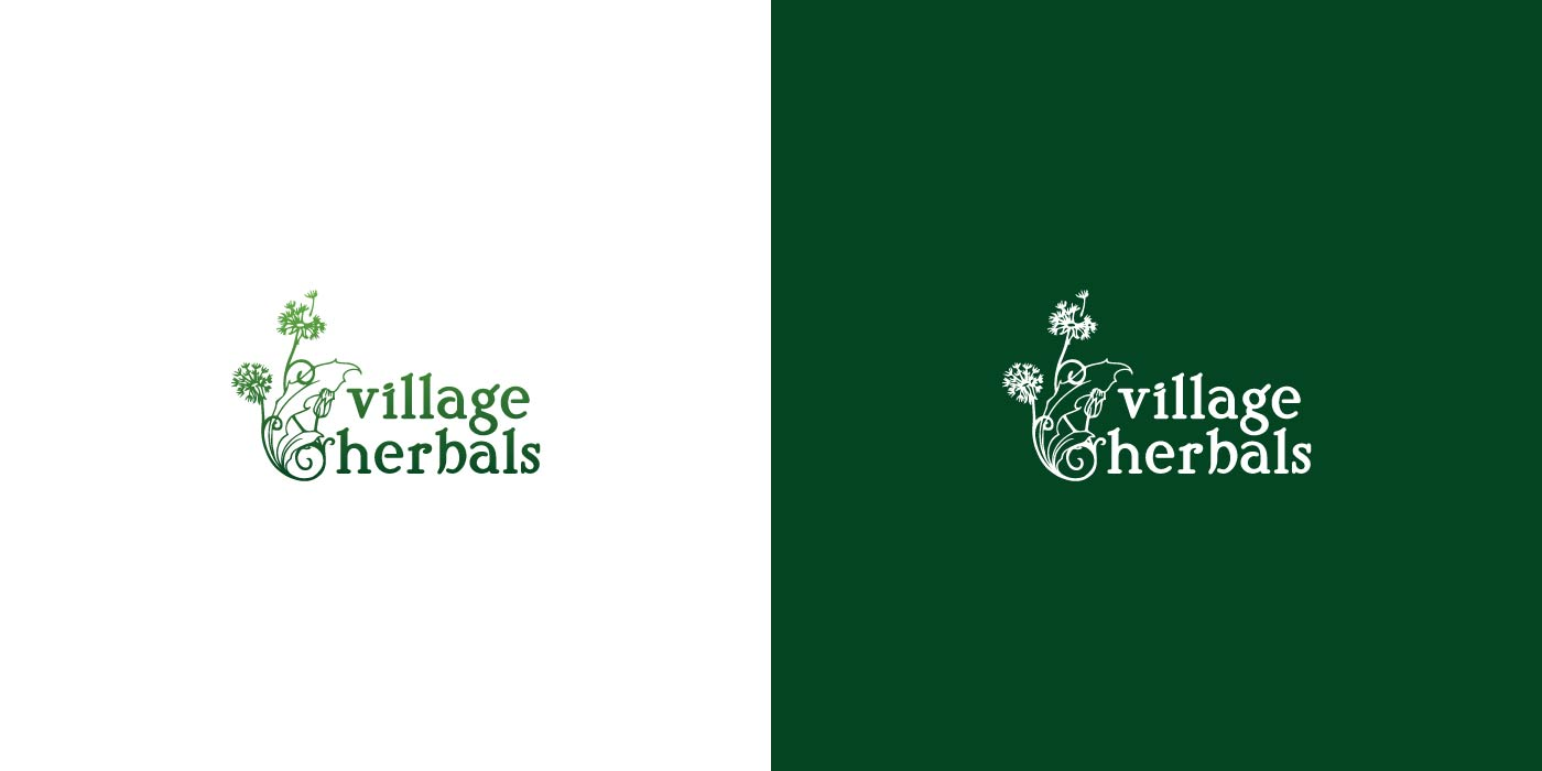 Village Herbals logo design