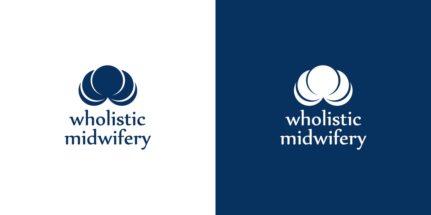 Wholistic Midwifery logo design