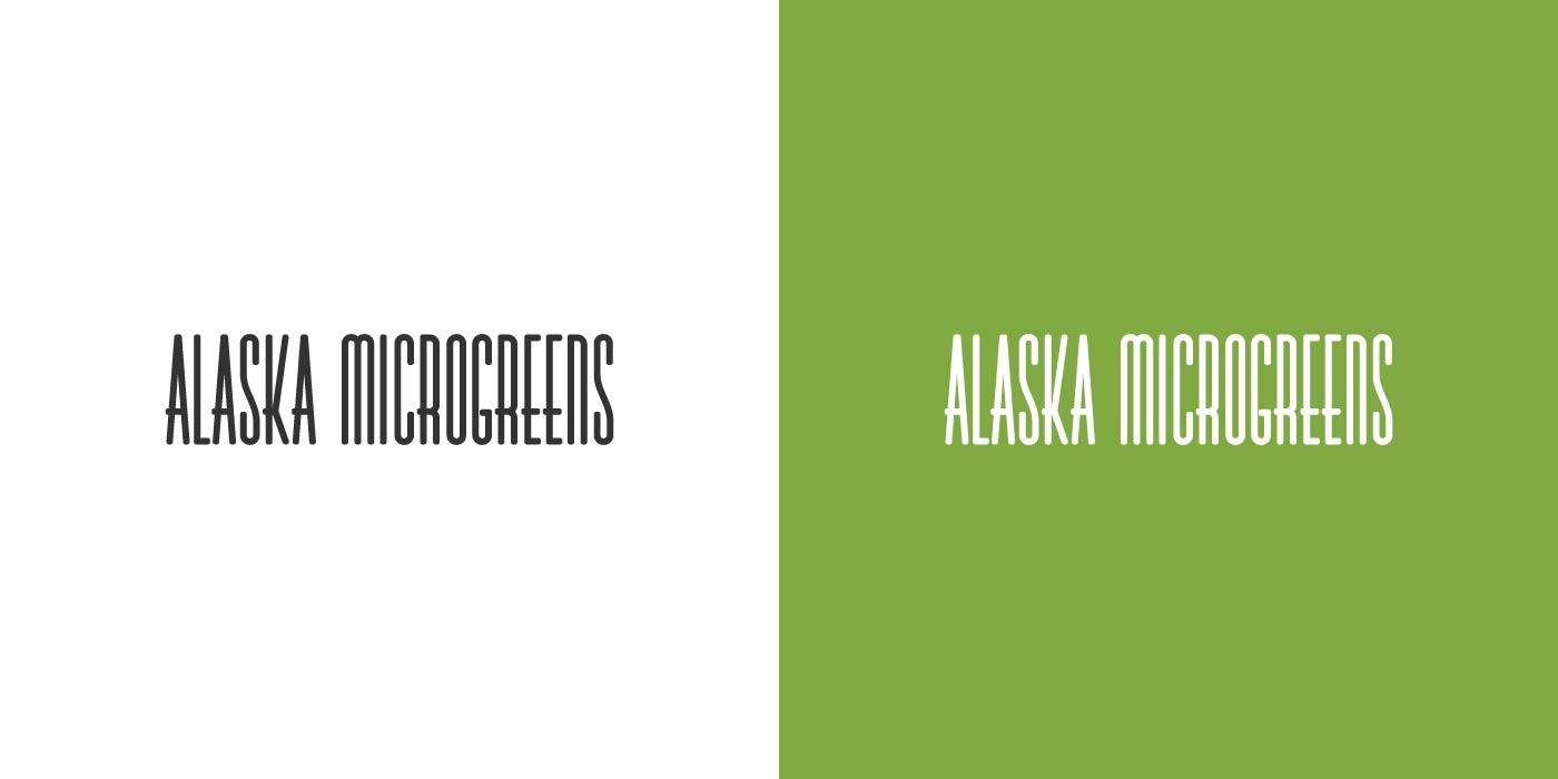 Alaska Microgreens logo design