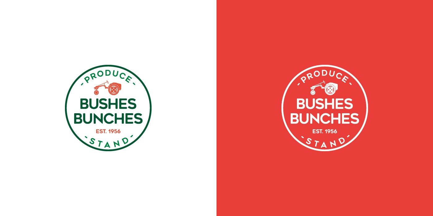 Bushes Bunches Produce Stand logo design