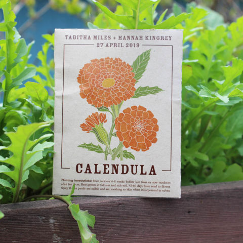 Wedding Favors | Calendula Seed Packets