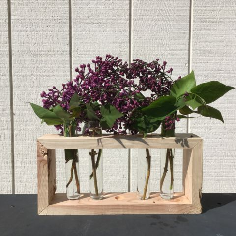 Scrap Wood Test Tube Vase
